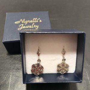 Jewelry - Silver Snowflake Earrings